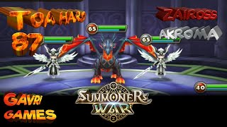 [Indo] Toa Hard 87 Zaiross + 2x Akroma - Summoners War YouTube Videos