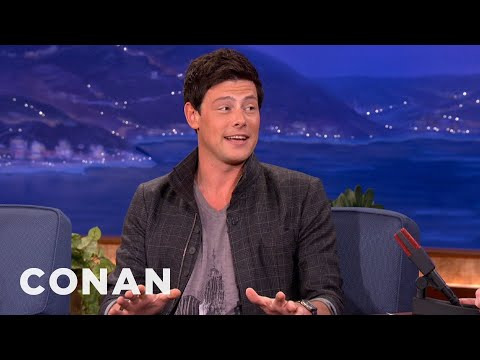 Cory Monteith Knows Lots About Sewage Treatment  CONAN on TBS