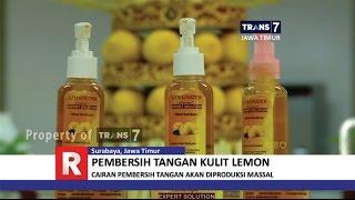 Kulit lemon yang biasanya hanya menjadi limbah, ternyata bisa disulap cairan hand sanitizer. seperti apa?