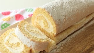 Vanilla Swiss Roll Cake Recipe