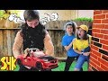 Noah gets Super Strength and SMASHES WWE Wrekkin Slam Mobile | SuperHeroKids