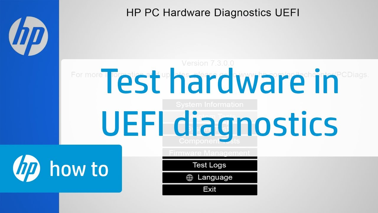 How to Test Your HP Computer Hardware Using HP PC Hardware Diagnostics UEFI  | HP Computers | HP