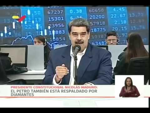 Anuncios de Maduro sobre el Petro: destina 30 millones de barriles líquidos a su respaldo