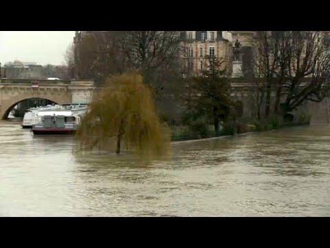 Paris river walks flooded as Seine swells with rain