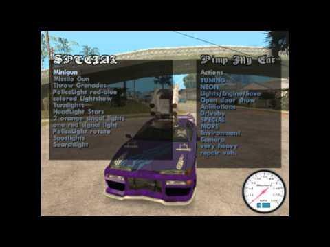 GTA san andreas Mod Cleo Pimp My Car Final!