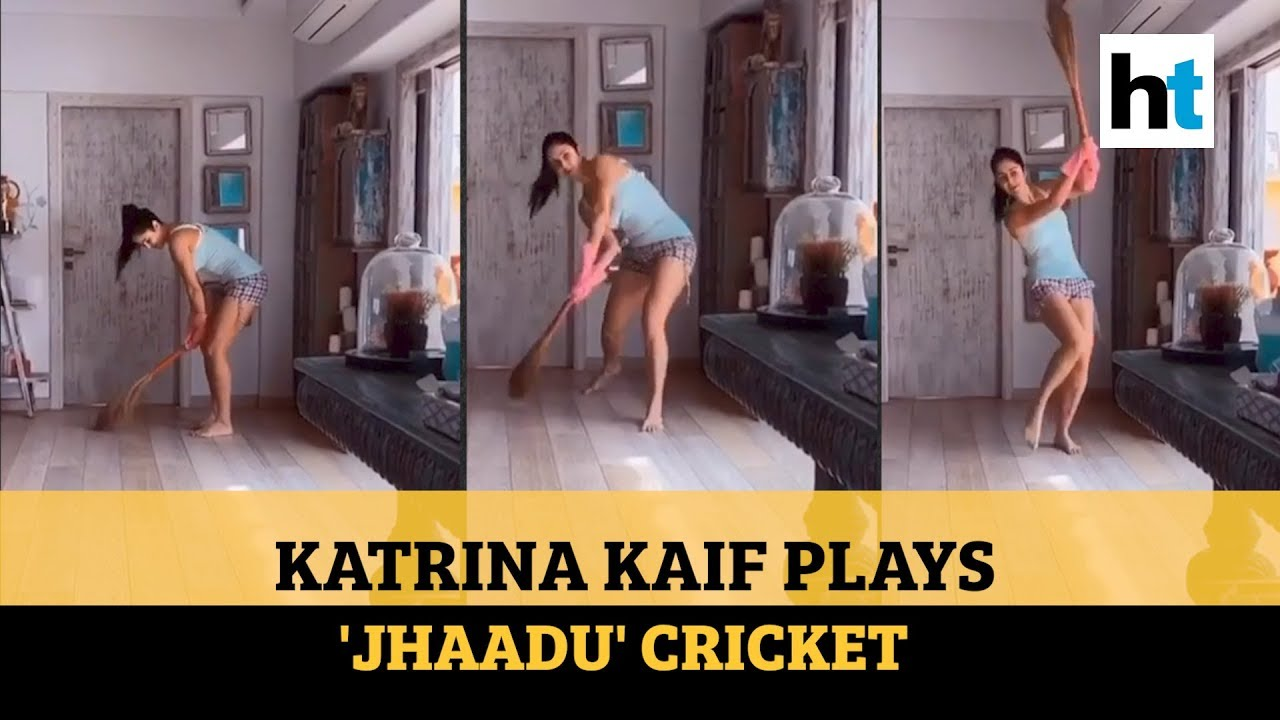 Coronavirus: Katrina Kaif sweeps floor, plays 'jhaadu' cricket amid lockdown