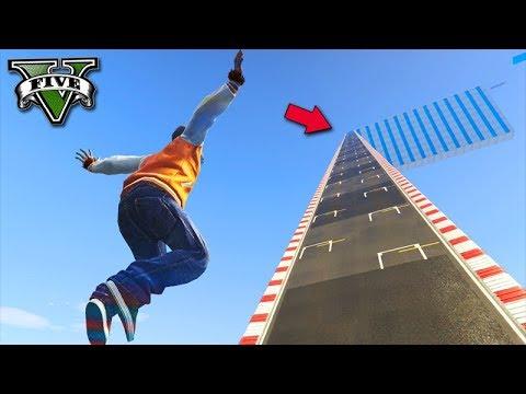 GTA V Online: SUBI UMA MEGA RAMPA INFINITA com o LOBISOMEM!!!