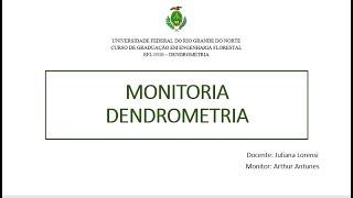 MONITORIA DENDROMETRIA (Resolução Exercício 5 - Lista 2)