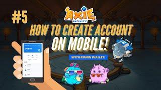 Paano gumawa ng Ronin at Axie Infinity Account sa Mobile Phone screenshot 2