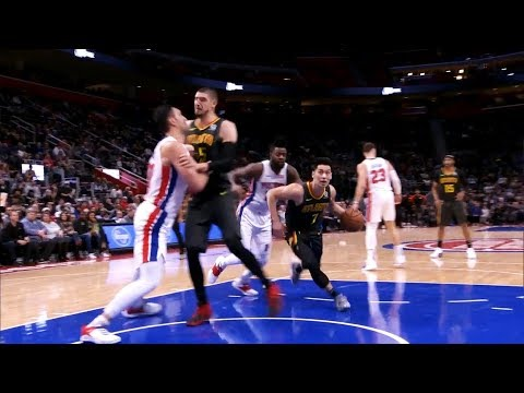 Jeremy Lin Clutch in 4th Quarter - Hawks at Pistons 12/23/18