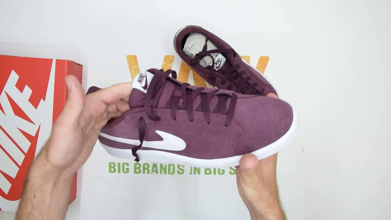 best cheap c0e47 20530 Nike Court Royale Suede - Maroon  White - Walktall  Unboxing  Hands on