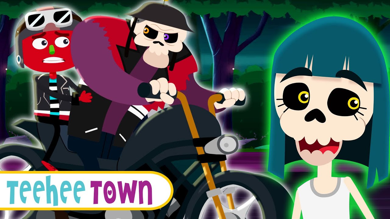 The Ghost Bike Song | Skeletons On Rescue Mission | Spooky Fun Songs For Kids By Teehee Town