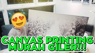 [ omaralattas ] vlog #107-2018: Canvas Printing Murah Giler!!!