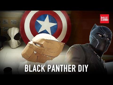 Make Black Panther Helmet Part 1 - Template & Cardboard (free PDF) Cosplay How to
