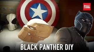 Make Black Panther Helmet Part 1 - Template & Cardboard (free PDF) Cosplay How to