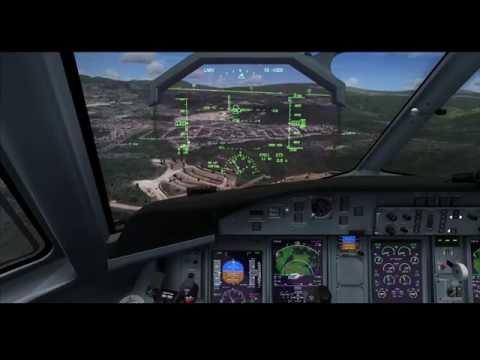 FSX Landing Toncontin MHTG Runway 02 MJCQ400