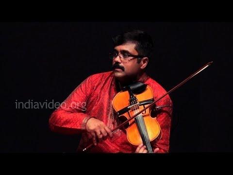 Violin recital by  A Jayadevan on Ganamoorthe