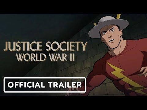Justice Society: World War II -  Exclusive Official Trailer (2021) Stana Katic, Matt Bomer