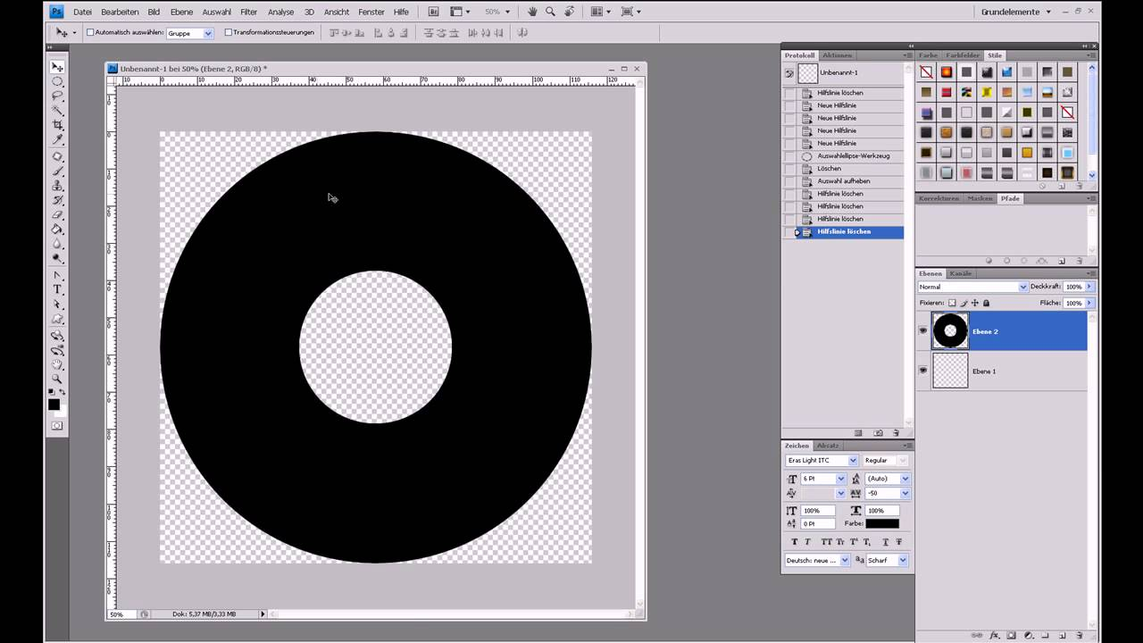 CD-Label erstellen – Photoshop-Tutorial - YouTube