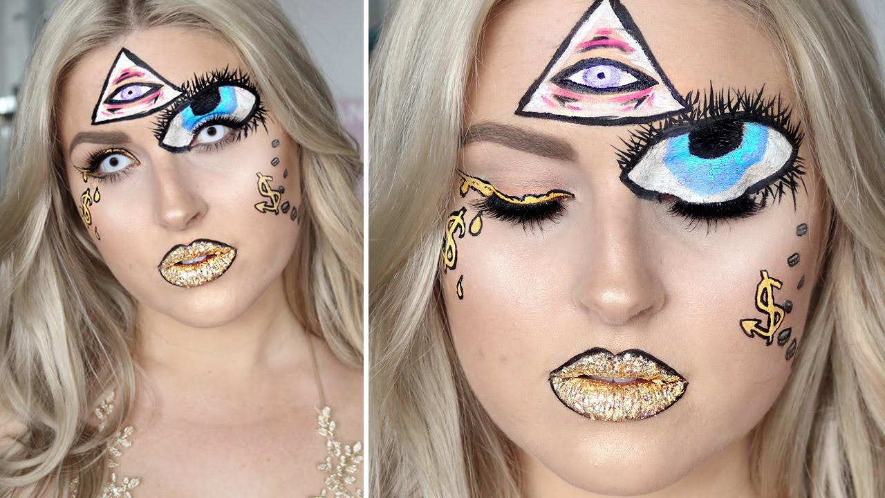Illuminati Inspired Look ♡ Halloween Makeup Tutorial - YouTube