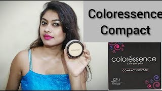COLORESSENCE COMPACT POWDER REVIEW IN HINDI || SHADE BEIGE | CP1 REVIEW