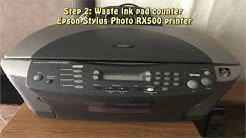 Reset Epson Stylus Photo RX500 Waste Ink Pad Counter