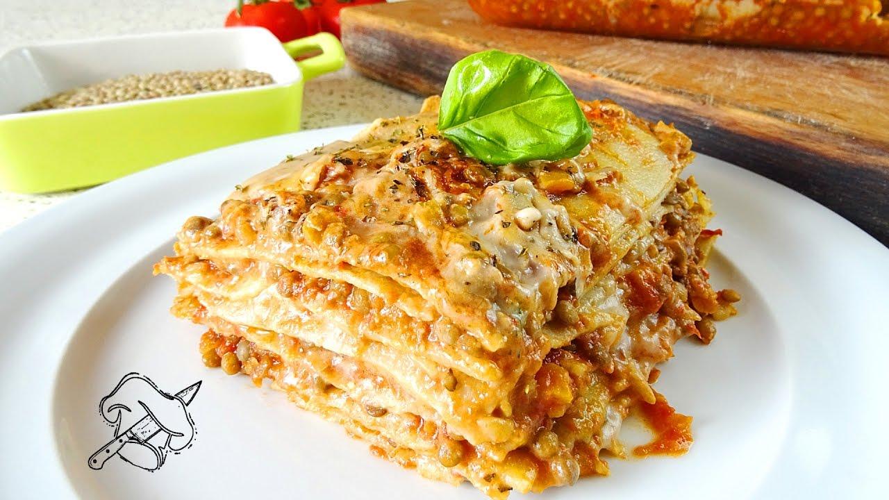 Ricetta Lasagne Vegane.Lasagne Vegane Al Ragu Di Lenticchie Con Besciamella Vegan Menu Di Natale Natale Vegan Youtube