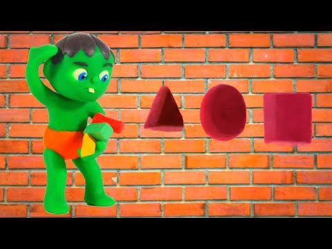 KIDS PLAYING WITH FIGURES & MUSIC 鉂� SUPERHERO PLAY DOH CARTOONS FOR KIDS
