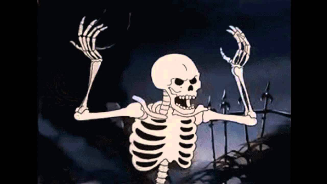 Spooky Scary Skeletons remix (With Gifs) - YouTube