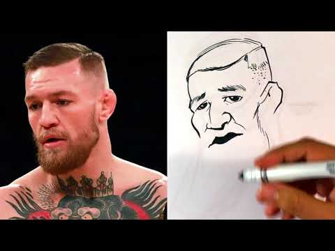 How to Caricature Conor McGregor from UFC - Easy Pictures to Draw