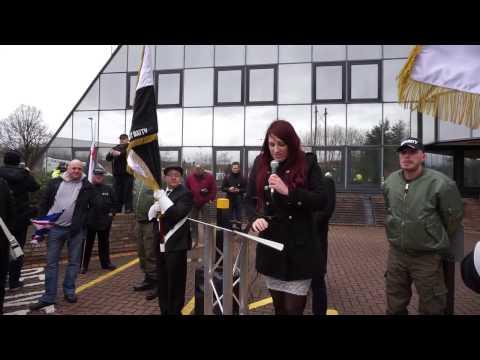 Britain First - Jayda Fransen - Stop Grooming Gangs demo in Telford