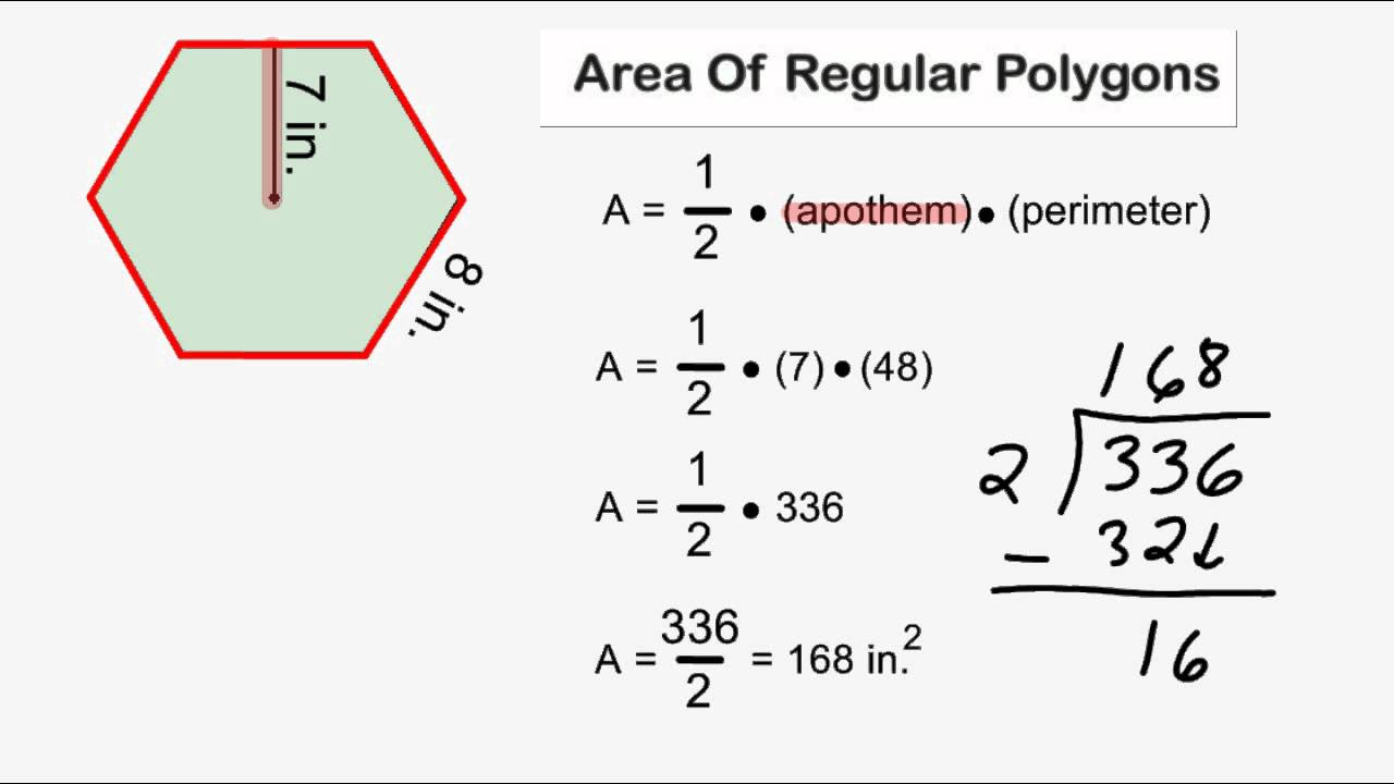 worksheet Area Of Regular Polygon Worksheet area of regular polygons videos worksheets solutions activities