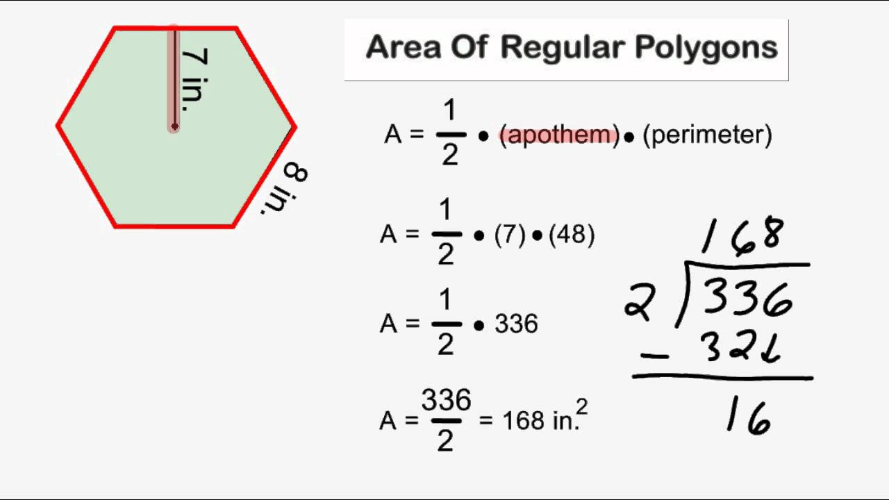 worksheet Areas Of Polygons Worksheet area of regular polygons youtube