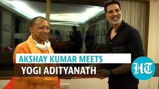 Watch: Akshay Kumar meets Yogi Adityanath, discusses film shooting in UP