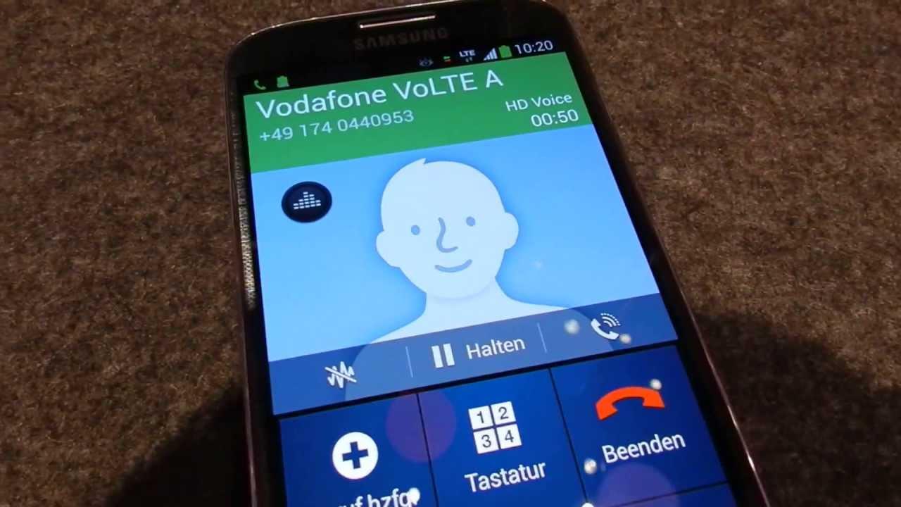 Volte Voice Over Lte Demonstration Vodafone Germany