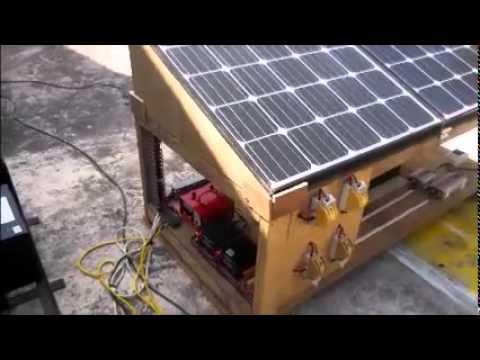 Biomass Generator & solar powered VSAT (with captions)
