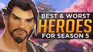 Overwatch: BEST and WORST Heroes for Season 5
