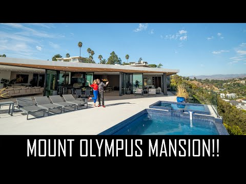$9MILLION MOUNT OLYMPUS MANSION WITH STUNNING LA VIEWS!!!