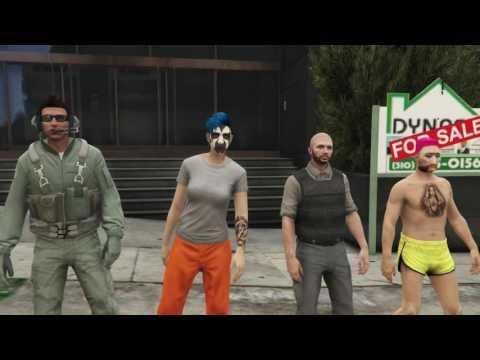 GTA5   Prison break Heist   Failed   Ray Sarah James and Harry