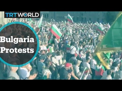 Bulgarian protesters rally outside parliament against premier