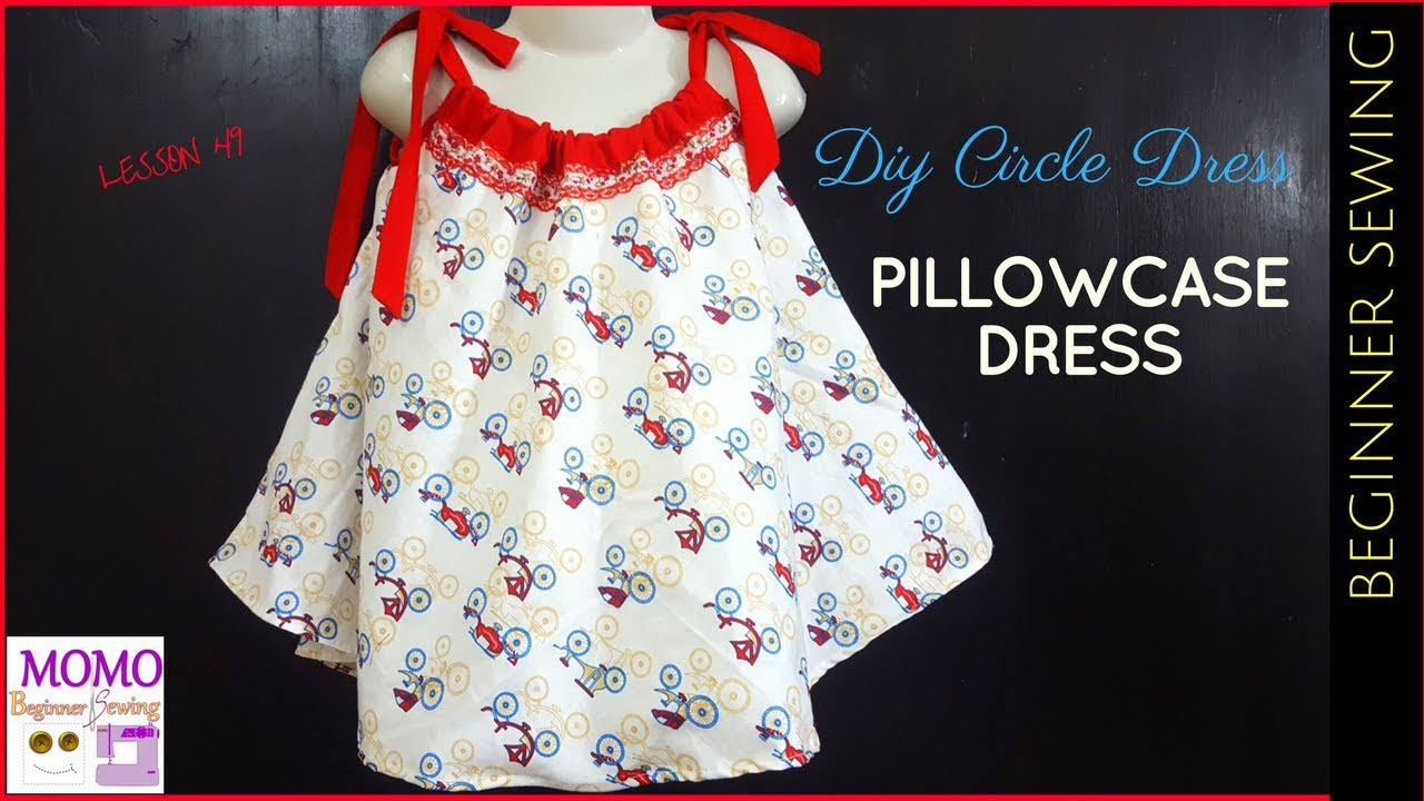 495f64bee630 DIY Circle Dress - Beginners Sewing Lesson 49 (No Pattern) - YouTube