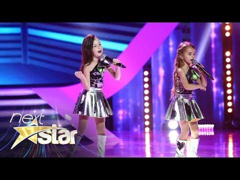 """Te topeşti de dragul lor! Mirela şi Kamelia cântă piesa """"Ciocolata"""" pe scena Next Star"""