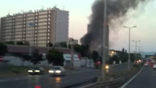 incendie marseille camp des roumains filmé depuis l