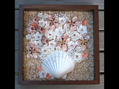 Поделки из ракушек морских и речных - YouTube