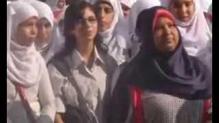 طالبة مسيحية تغنى «ياحبيبى يامحمد» مع الإذاعة المدرسية