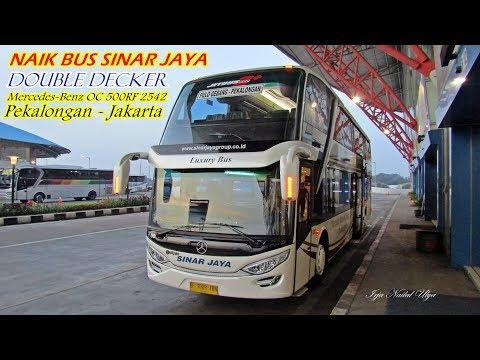 SINAR JAYA DOUBLE DECK!!. Sensasi Perjalanan Naik Sinar Jaya Pekalongan - Jakarta.