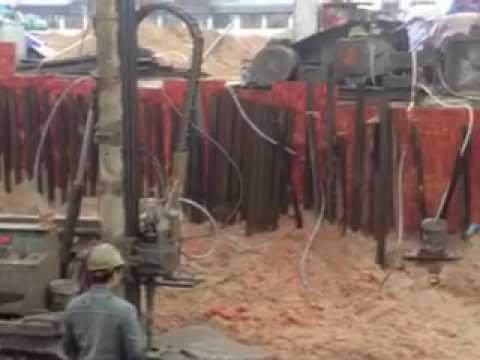 Jet grouting drilling rig used in transformer room foundation construction
