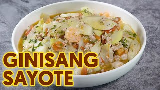 Ginisang Sayote with Giniling | Easy Recipe