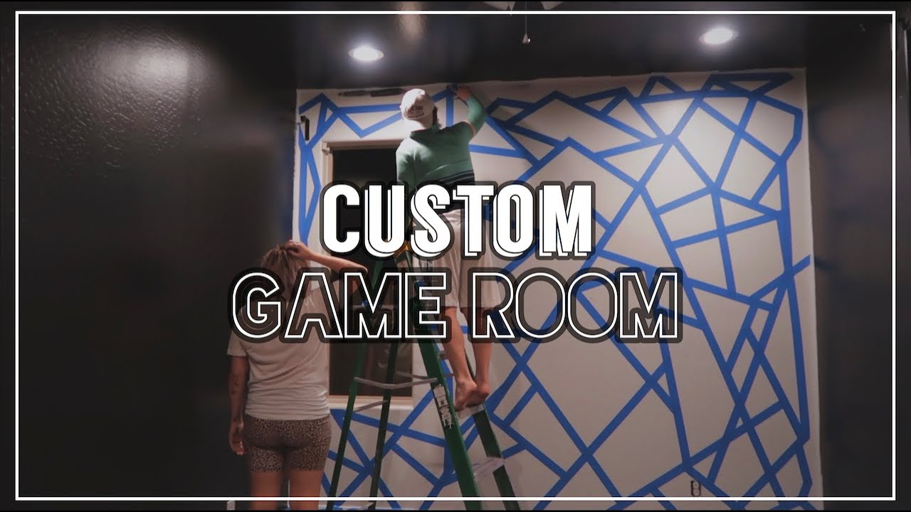 SURPRISE GAME ROOM TRANSFORMATION | custom accent wall!
