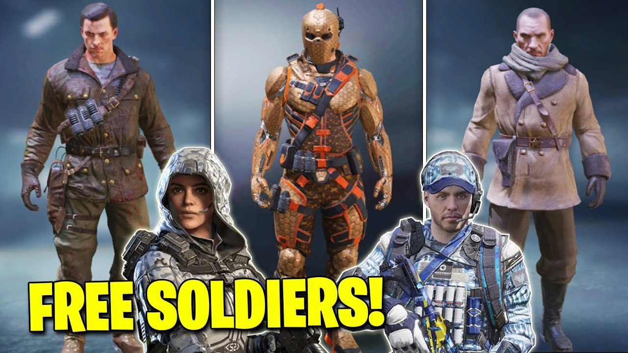 How To Unlock Free Character Skins In Cod Mobile Call Of Duty Mobile Season 5 Free Soldier Skins Youtube